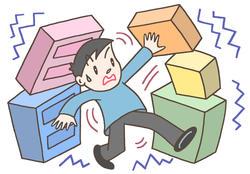 地震による負傷の原因